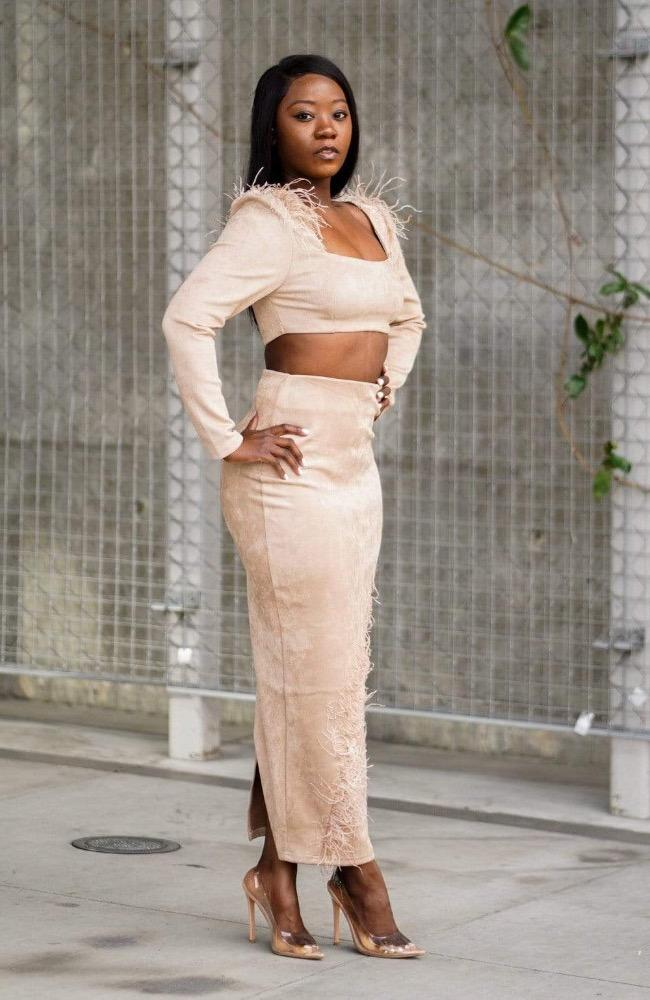 Showstopper - Suede Skirt Set