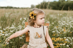 Summer Floral Hand Embroidered 3-Piece Sunsuit