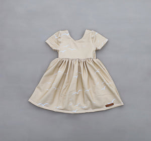 Sand Seagull Twirl Dress