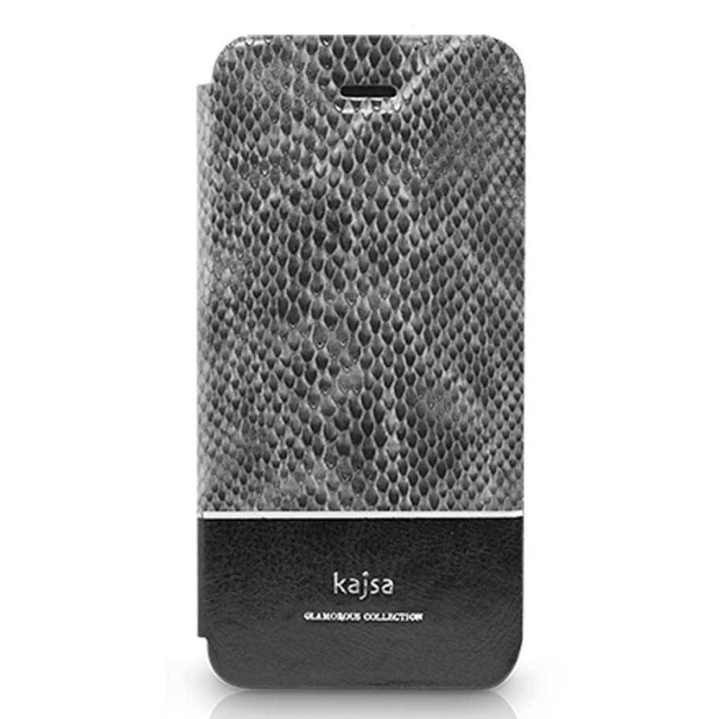 pretty nice ef815 191a9 Glamorous Collection - Snakeskin Leather Folio Case for iPhone 8/8 Plus &  iPhone 7/7 Plus
