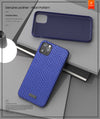 Genuine Leather Pearl Pattern Back Case for iPhone 11 / 11 Pro / 11 Pro Max