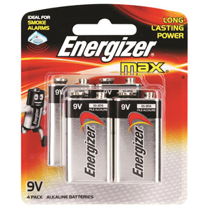 9V Energiser Max Batteries (4 Pack)