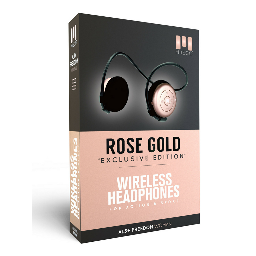 MIIEGO Rose Gold Bluetooth Headphones