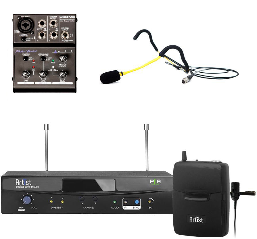 Artist Wireless EMic System for Streaming & Recording Voice & Music