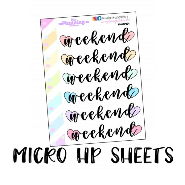 MicroHP32-35: Weekend Banner