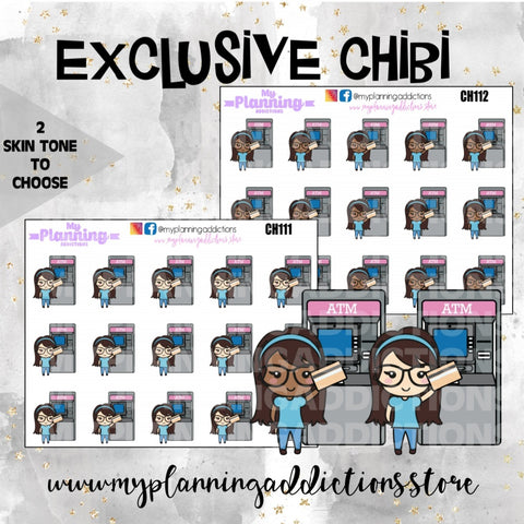 CH111-112: Molly @ The ATM Chibi