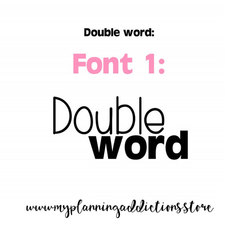 DOUBLE WORD CUSTOM SCRIPTS