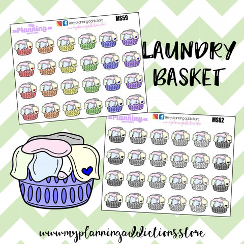 *LAUNDRY BASKET/ICONS/PLANNER STICKERS