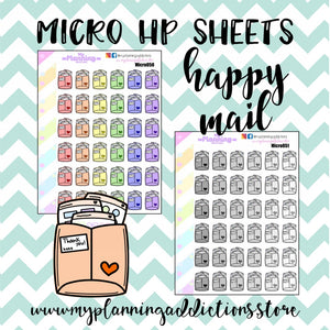MICROHP50-51: HAPPY MAIL/ICONS/PLANNER STICKERS