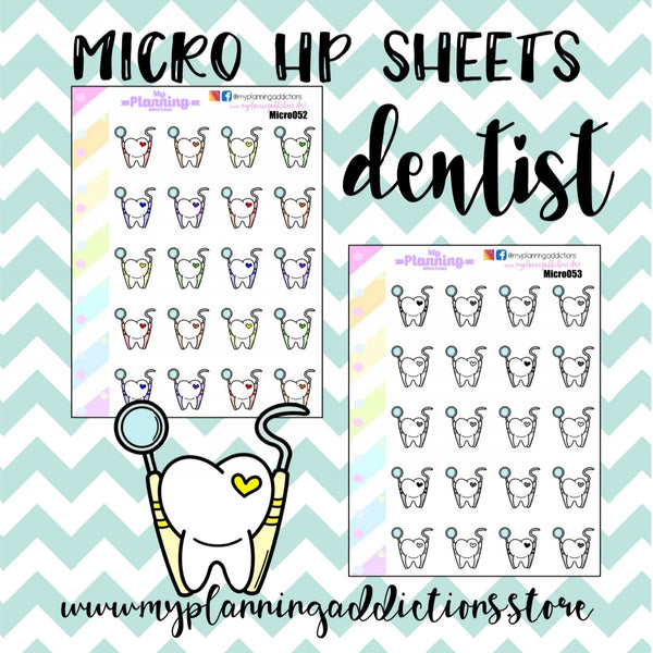 MICROHP52-53: DENTIST/ICONS/PLANNER STICKERS