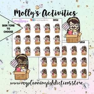 CH153-154: Molly's Unboxing/CHIBI/PLANNER STICKERS