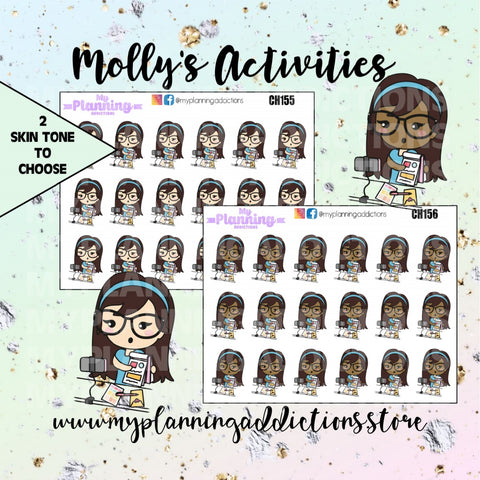 CH155-156: MOLLY PLAN WITH ME/CHIBI/PLANNER STICKERS