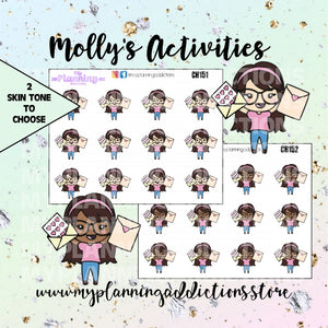 CH151-152: Molly Happy Mail/CHIBI/PLANNER STICKERS