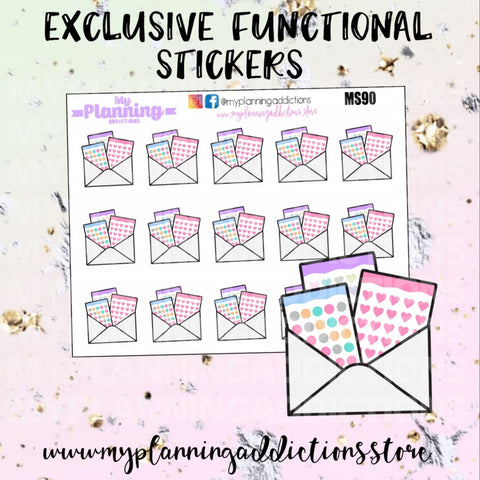 MS90: HAPPY MAIL/ICONS/PLANNER STICKERS