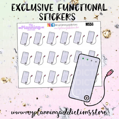 MS56: PORTABLE CHARGER/ICONS/PLANNER STICKERS