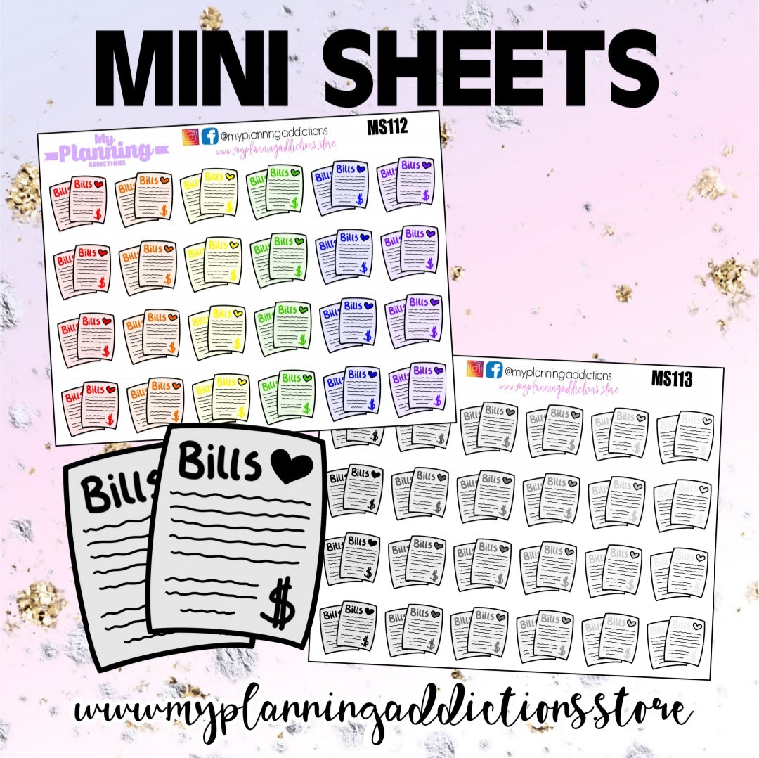 *BILLS PAYMENT/ ICONS/PLANNER STICKERS