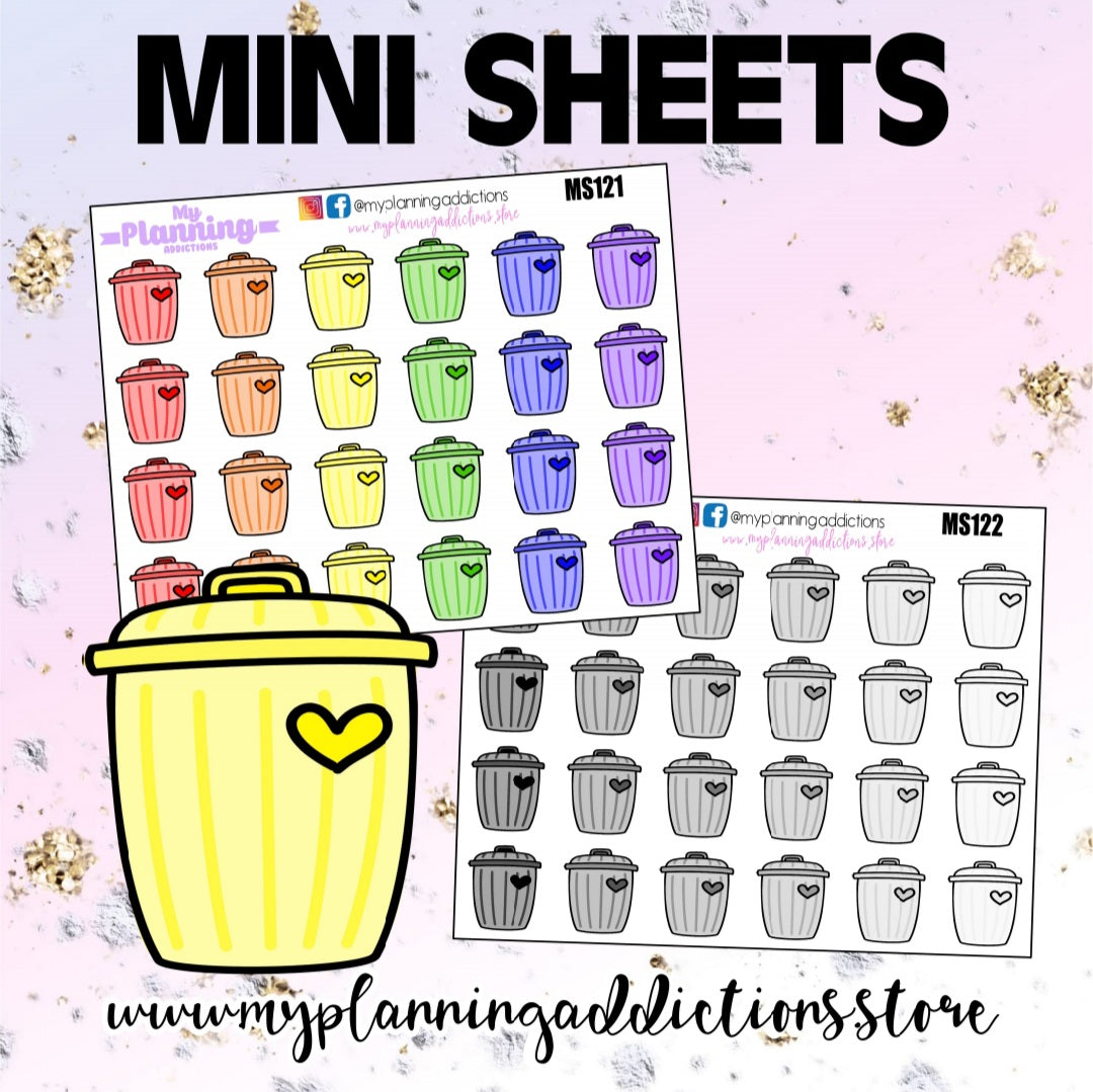 *TRASH CAN/ICONS/ PLANNER STICKERS