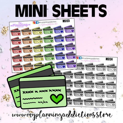 *CREDIT CARD/ICONS/PLANNER STICKERS
