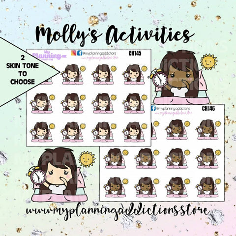 CH145-146: Molly Waking Up/CHIBI/PLANNER STICKERS