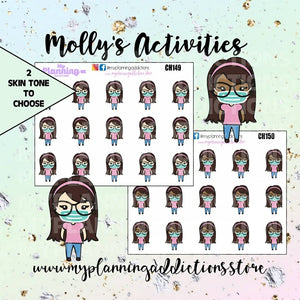 CH149-150: Molly in Mask/Chibi/Planner Stickers