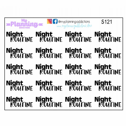 S121-Night Routine