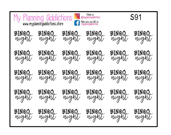 S91-Bingo Night Scripts