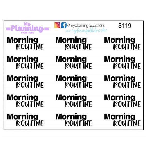 S119-Morning Routine