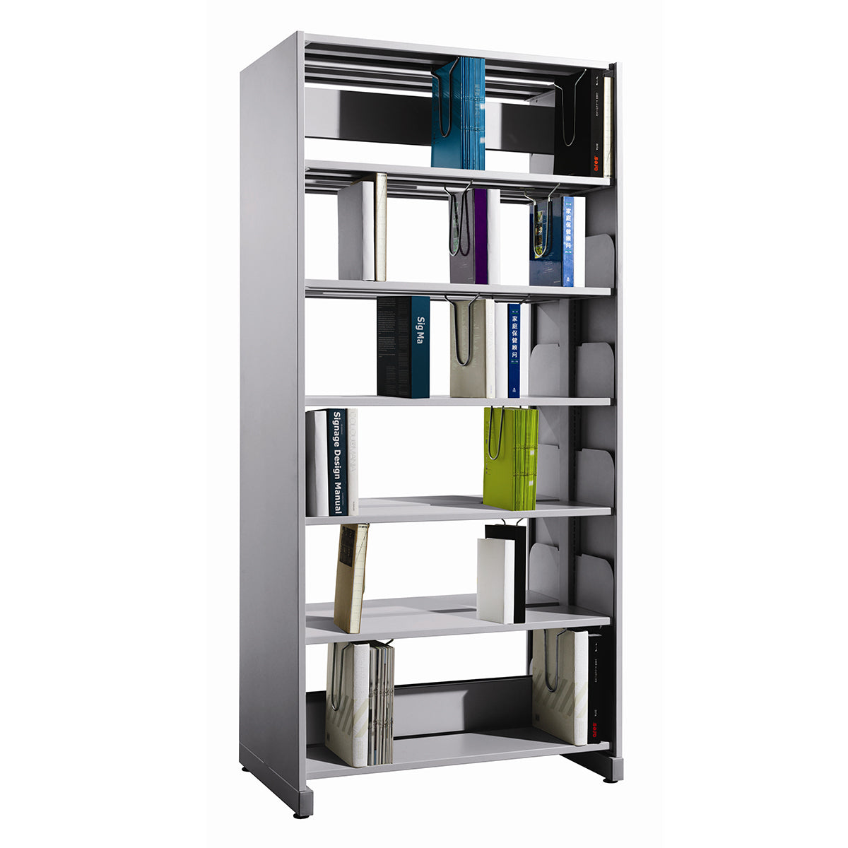 MS LIBRARY 2 SIDED BOOKRACK