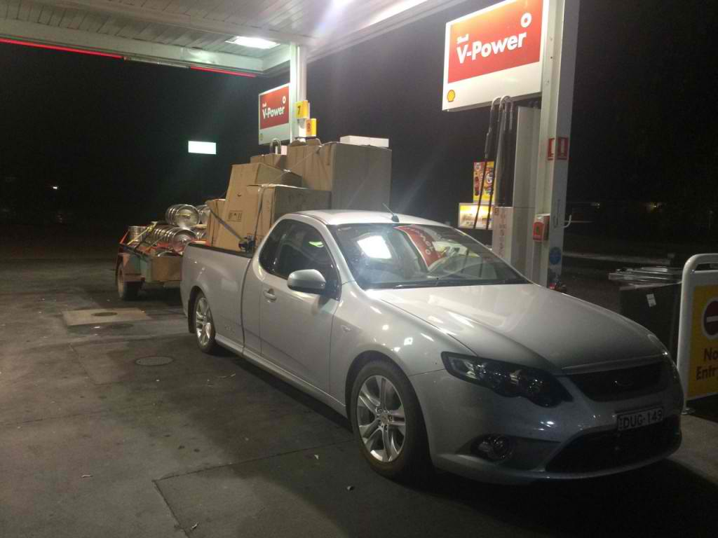 Last fuel stop with our brewery on the way home 3:00AM in Gundagai. Thank god for 24Hr Servos :-)