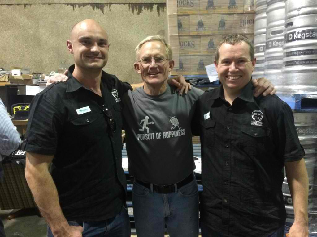 Chuck Hahn, Yep really! We may have been just a little star struck... (Just in case you haven't worked it out Hahn like Hahn Super dry!). If there is a father of Craft Beer in Australia your looking at him!