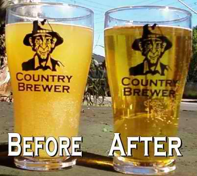 Curtsy of our friends at Country brewer. Before and after filtering.