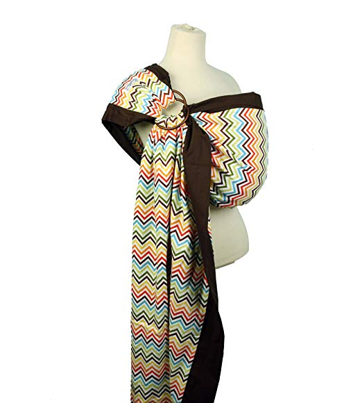 Snuggy Baby Prestige Ring Sling Baby Carrier Rainbow Chevron One Size