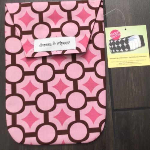 Diapees & Wipees Diaper Bag And Wipes Case Mod Maze Pink 1065