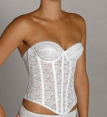 La Leche League - QT - Strapless Lace Brasselette Bustier with Garters - 1124