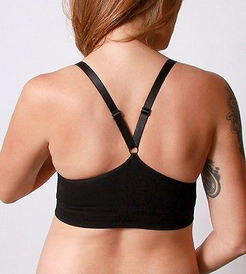 Coobie Seamless Nursing Wireless Comfort Bra 9120 Black Full Size