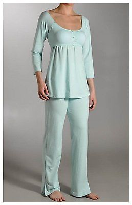 La Leche League Sandi Maternity Nursing PJ Set 4365 Aqua X-Large
