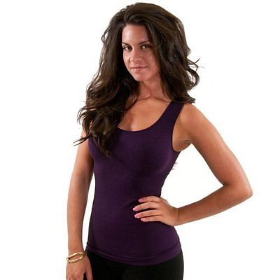 Sugarlips Women's Seamless Rib Tank Top 409P Ture Purple Misses Sizing One Size