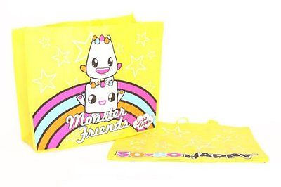 So So Happy Monster Friends Reuseable Tote Yellow New