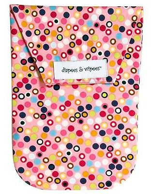Diapees & Wipees Diaper Bag And Wipes Case Hot Dot Pink 1002