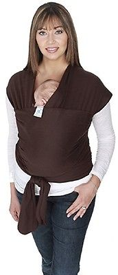Moby Wrap Cotton Baby Carrier, Chocolate