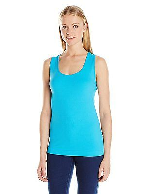 Sugarlips Women's Seamless Rib Tank Top 409P Turquoise  Misses Sizing OS