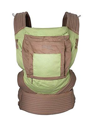 Onya Baby Cruiser Baby Carrier with Integrated Harness Seat Leaf Green / Umber