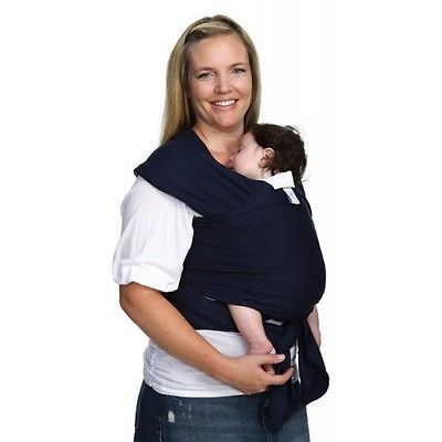 Moby Wrap Cotton Baby Carrier One Size Navy
