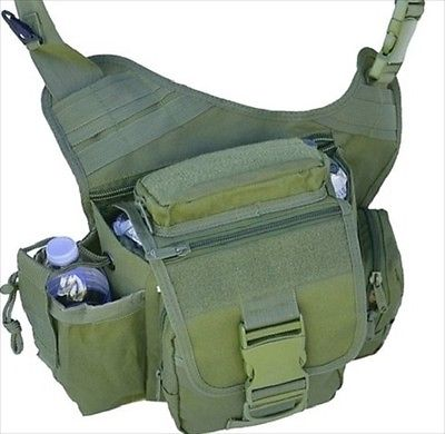 Explorer Tactical Messenger Bag, Olive Green