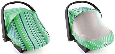 Cozy Cover Sun & Bug Cover Green Stripe
