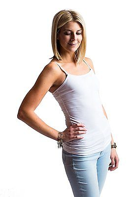Undercover Mama Lace Trim Nursing Tank Top Attaches to Your Bra White XS