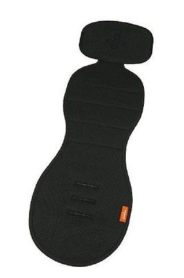Meeno Babies Cool Mee Car Seat Liner Jet Black One Size Fits Most 1-4 Years