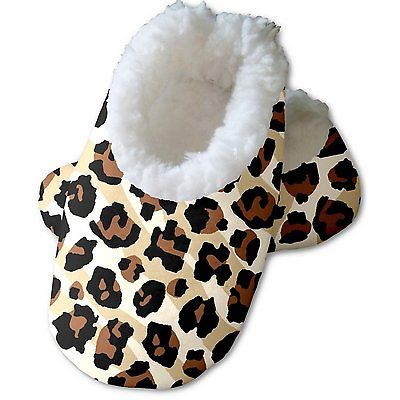 Snoozies Baby's Fleece Lined Footies, Leopard Zebra Small 0-3 months