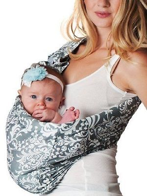 Hotslings Adjustable Pouch Baby Sling, Overcast, Large