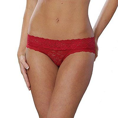 Coobie Undie Couture Prity and Comfy Lace Hipster Panties 8247 XS/S Red